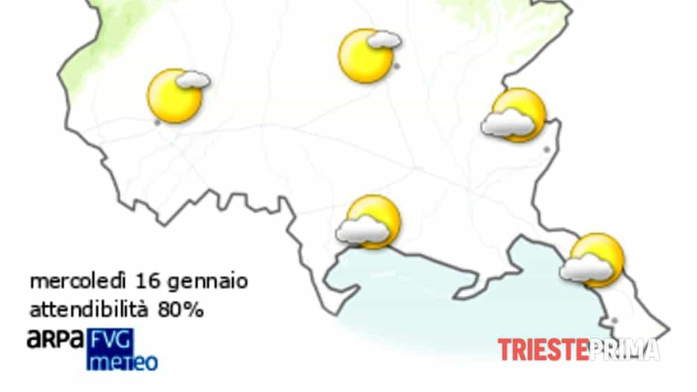 Meteo Trieste Le Previsioni Per Mercoledì 16 Gennaio 2019
