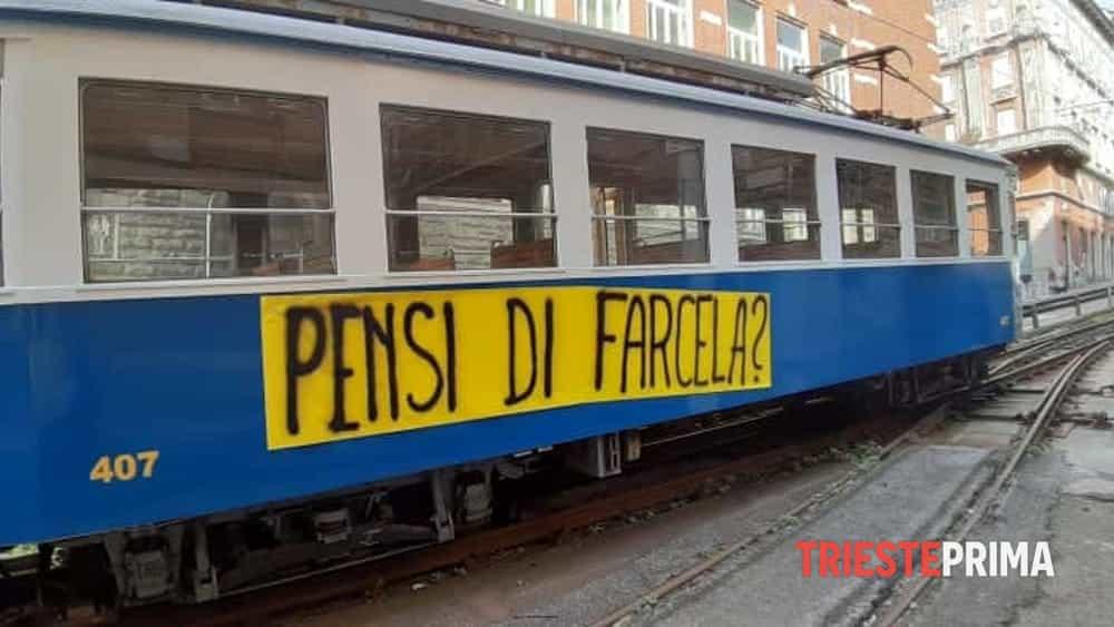 pensi di farcela 2 - Trieste's famous tram stays closed